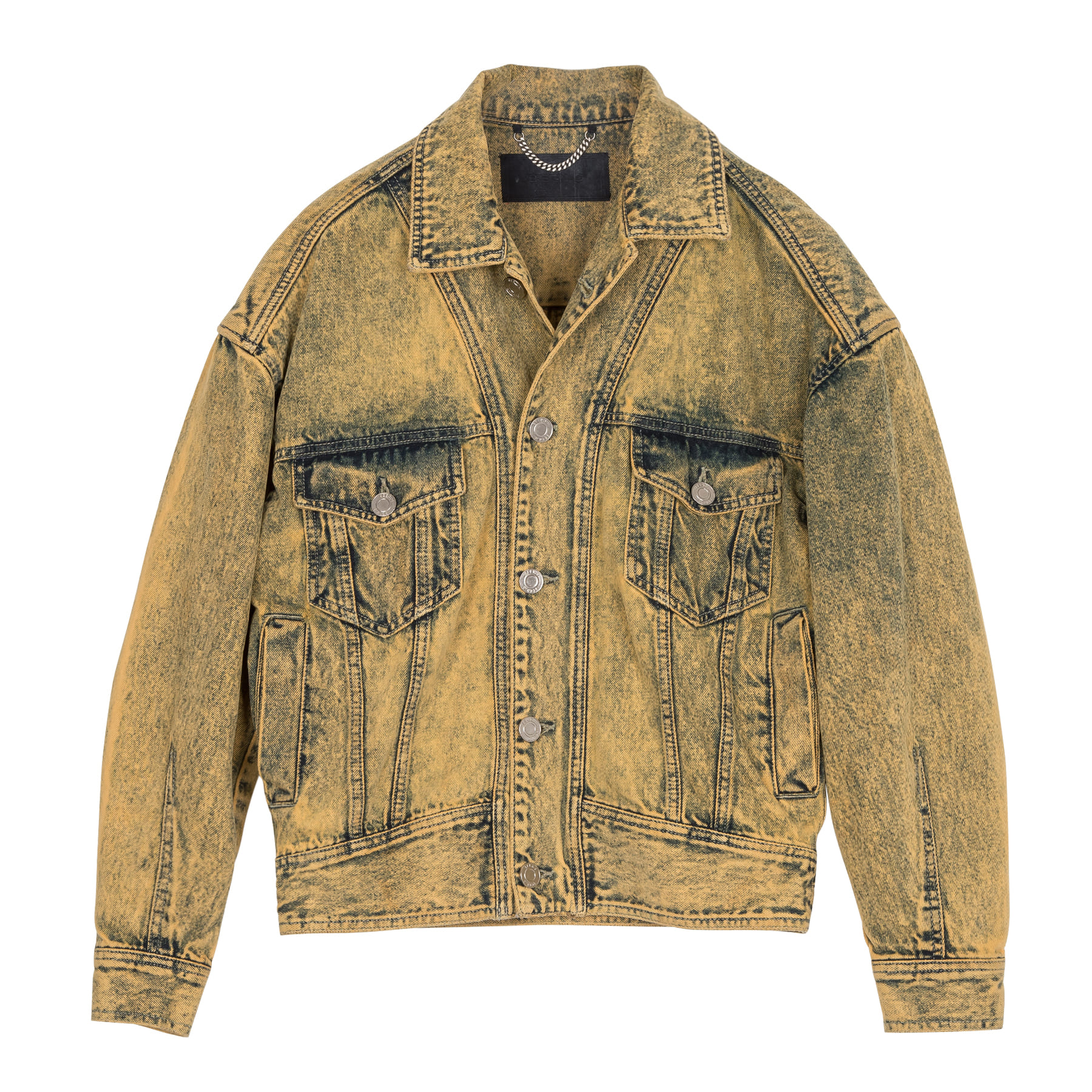 [Pre-Order]Yellow Dyed Oversize Denim Jacket